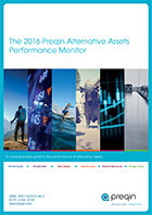 2016 Preqin Alternative Assets Performance Monitor